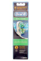 BROSSETTE DE RECHANGE ORAL-B DUAL CLEAN x 3 à Cenon