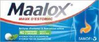 MAALOX HYDROXYDE D'ALUMINIUM/HYDROXYDE DE MAGNESIUM 400 mg/400 mg Cpr à croquer maux d'estomac Plq/40 à Cenon