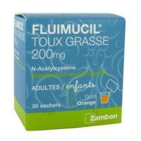 FLUIMUCIL EXPECTORANT ACETYLCYSTEINE 200 mg SANS SUCRE, granulés pour solution buvable en sachet édulcorés à l'aspartam et au sorbitol à Cenon