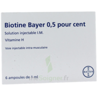 BIOTINE BAYER 0,5 POUR CENT, solution injectable I.M. à Cenon