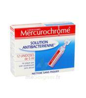 Mercurochrome Solution Antibactérienne Unidoses 12 x 5ml à Cenon