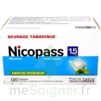 NICOPASS 1,5 mg Past sans sucre menthe fraîcheur Plq/96 à Cenon
