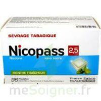 NICOPASS 2,5 mg Past menthe fraîcheur sans sucre Plq/96 à Cenon
