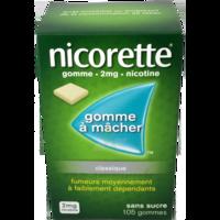 NICORETTE 2 mg Gom à mâcher médic sans sucre menthe fraîche Plq/105gom à Cenon