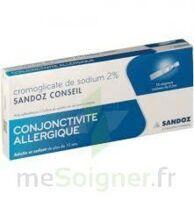CROMOGLICATE DE SODIUM SANDOZ CONSEIL 2 %, collyre en solution en récipient unidose 10Unid/0,3ml à Cenon